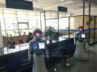 科技展览文化馆:迎宾机器人正在互动新体验