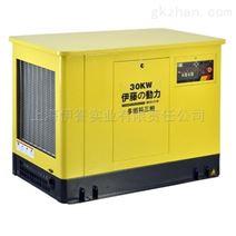 上海伊藤大型多燃料30kw三相发电机