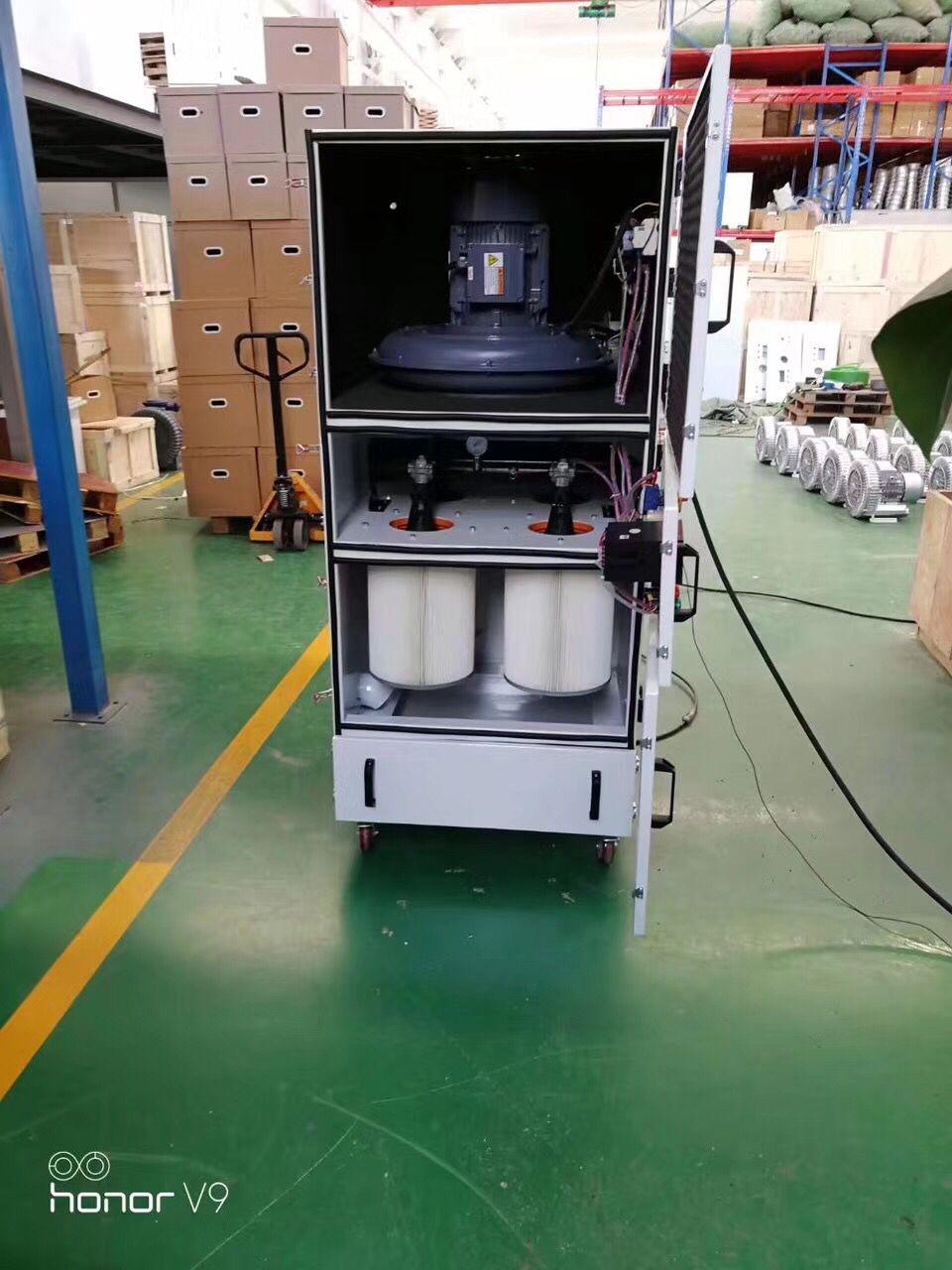 激光雕刻机专用集尘机 激光切割粉尘除尘器