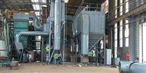 80吨链条除尘器炉用降温阻火器运行效果视频