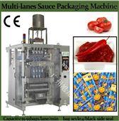 果酱|果冻条|漱口水多排背封液体包装机