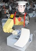 新款不锈钢厨师型削面机器人