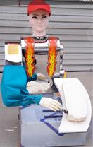 新款全自动小红帽刀削面机器人