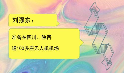 刘强东:准备在四川、陕西建100多座无人机机场