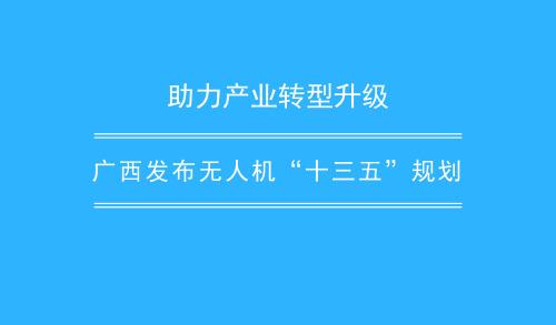 """助力產業轉型升級 廣西發布無人機""""十三五""""規劃"""