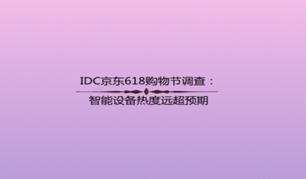 IDC京东618购物节调查:智能设备热度远超预期