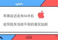 苹果延迟发布5G手机或导致其当前不利的境况加剧