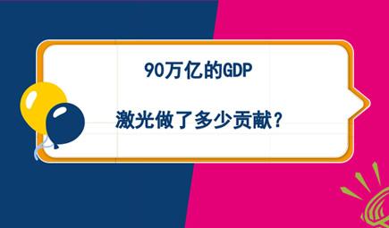 90万亿的GDP 激光做了多少贡献?