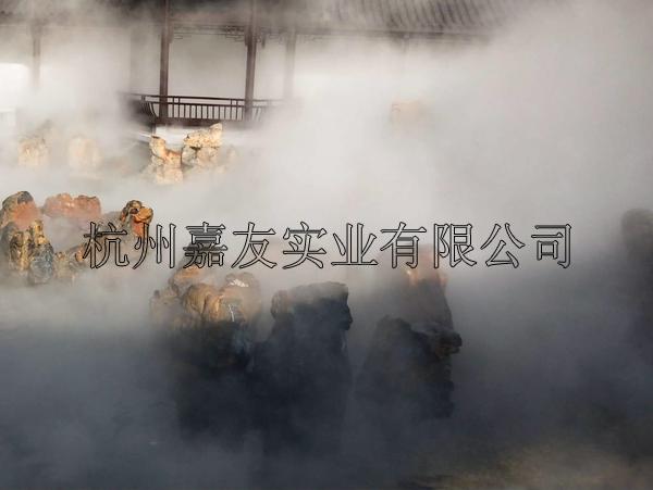 景观人造雾设备安装案例