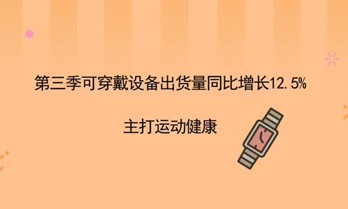 第三季可穿戴設備出貨量同比增長12.5%,主打運動健康-數控加工中國網